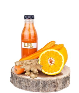Jus de fruit frais – orange gingembre carotte