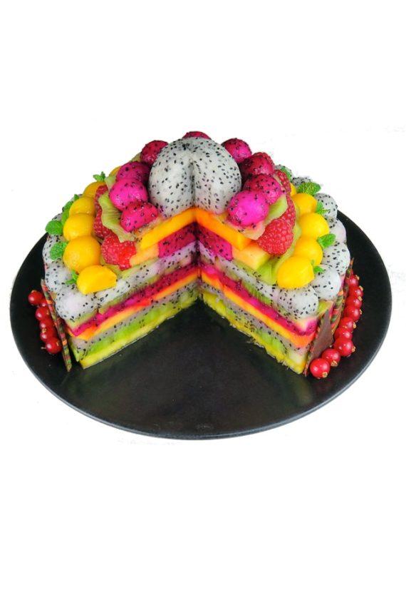 gâteau de fruits, création de fruits