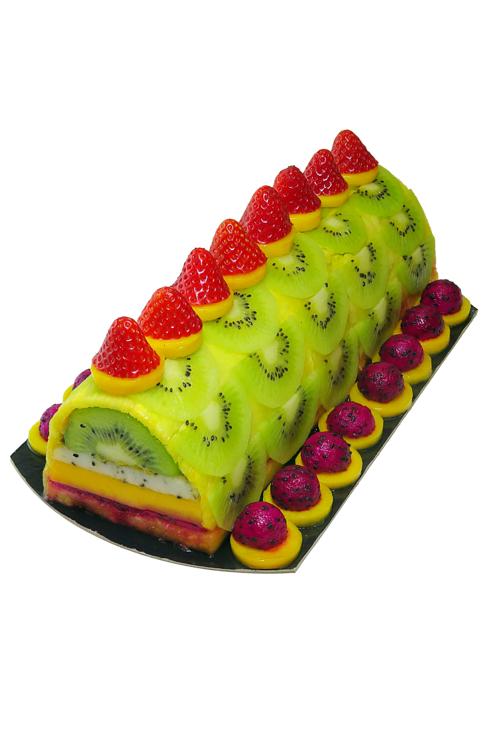 Bûche aux fruits noël healthy et peu calorique