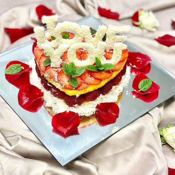 coeur de fruit saint-valentin